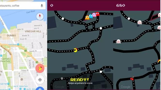 Trò chơi Pac-man sẽ được kích hoạt khi người dùng thực hiện lệnh tìm kiếm