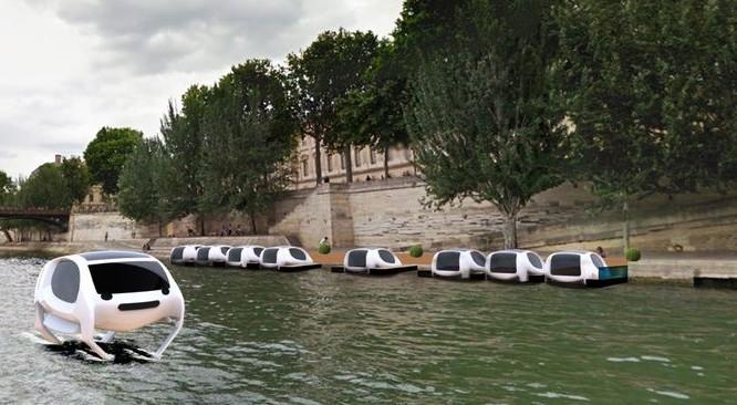 Dự án taxi chạy trên mặt nước Sea Bubbles đang thử nghiệm.