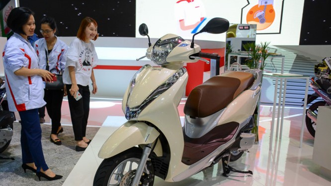 Phiên bản mới của Honda Lead tại Triển lãm mô tô xe máy Việt Nam 2017