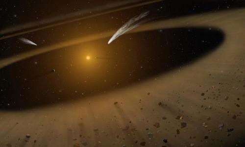 Epsilon Eridani có nhiều đặc điểm giống hệ Mặt Trời. Đồ họa: NASA.