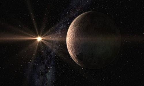 Mô phỏng siêu Trái Đất GJ 625 b đang quanh ngôi sao lùn GJ 625. Ảnh: Gabriel Pérez.