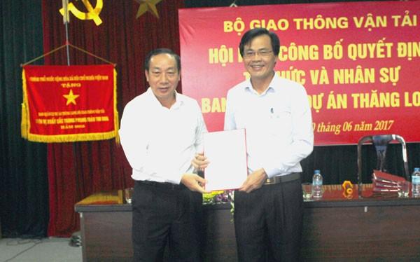 Ông Dương Viết Roãn được bổ nhiệm làm Giám đốc PMU Thăng Long từ 1/7.