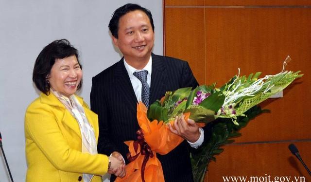 Bà Hồ Thị Kim Thoa trong một lần trao quyết định bổ nhiệm cho ông Trịnh Xuân Thanh.
