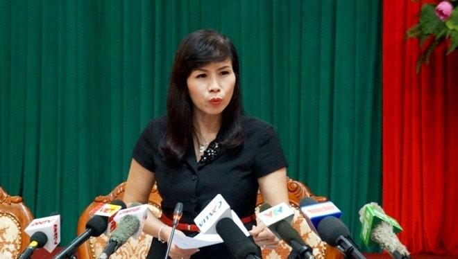 Bà Lê Mai Trang, Phó chủ tịch UBND quận Thanh Xuân. Ảnh: Báo Chất lượng Việt Nam