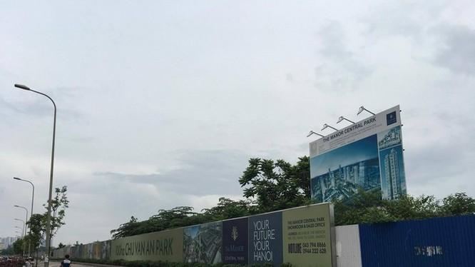 The Manor Central Park là dự án được đối ứng khi Bitexco triển khai thực hiện dự án xây tuyến đường giao thông quanh Khu tưởng niệm Chu Văn An.
