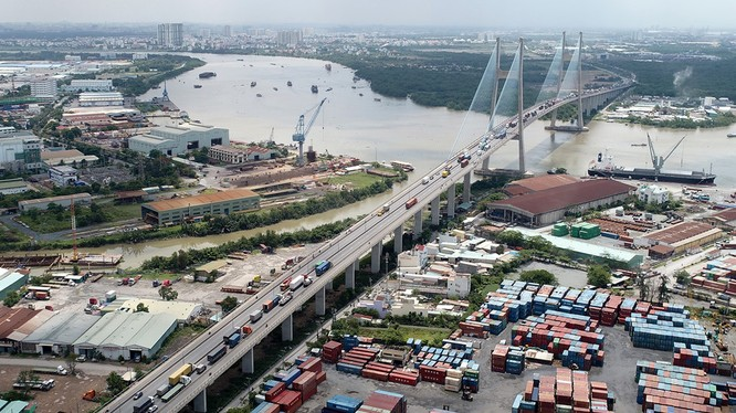 Dự án xây dựng cầu Phú Mỹ - Ảnh: Zing