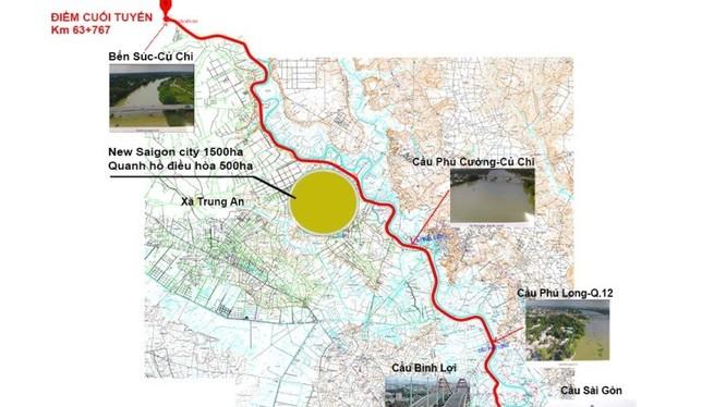 Bản đồ tuyến đường dọc sông dự kiến sẽ thực hiện - Ảnh: PLO