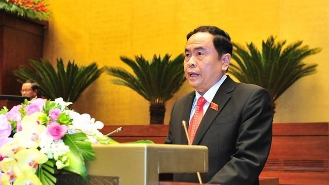 Chủ tịch Ủy ban Trung ương MTTQ Việt Nam Trần Thanh Mẫn - Ảnh: Hải Nguyễn/Lao động
