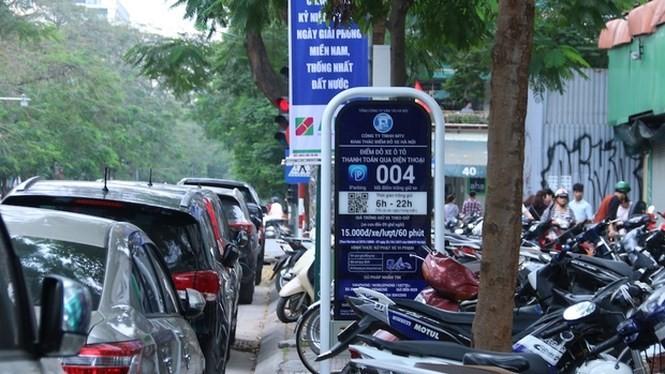 Ứng dụng tìm kiếm và thanh toán giá dịch vụ trông giữ xe tự động (iParking) góp phần xây dựng giao thông thông minh tại Hà Nội. Ảnh: Tiền phong.