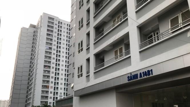 Nhà A14 khu đô thị Nam Trung Yên còn hàng trăm căn hộ chưa bàn giao được cho người dân. Ảnh: Minh Tuấn.