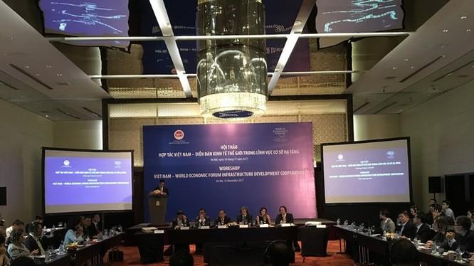 Hội thảo hợp tác Việt Nam - Diễn đàn kinh tế thế giới trong lĩnh vực hạ tầng giao thông - Ảnh: Q.V
