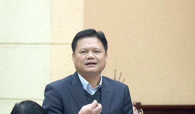 Ông Vũ Đức Bảo, Trưởng ban Tổ chức Thành ủy Hà Nội phát biểu tại hội nghị - Ảnh: Zing