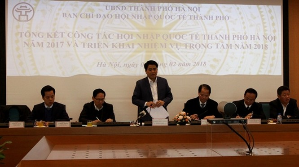 Chủ tịch UBND TP Nguyễn Đức Chung phát biểu tại hội nghị - Ảnh/Hanoi.gov.vn