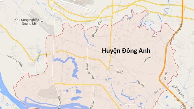 Tuyến đường sẽ chạy qua huyện Mê Linh và huyện Đông Anh