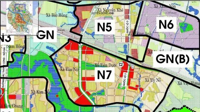 Khu đô thị Uy Nỗ, Đông Anh thuộc phân khu đô thị N7.