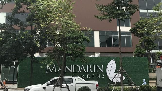 """Công trình """"Mandarin Garden 2"""" của Công ty Cổ phần Đầu tư và dịch vụ Hà Nội - thành viên của Tập đoàn Hòa Phát. Ảnh: Nguyễn Hiếu"""