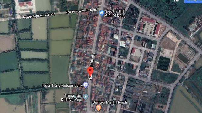 Tuyến đường có điểm đầu (điểm 1) tại vị trí giao với tuyến đường Ngô Xuân Quảng.