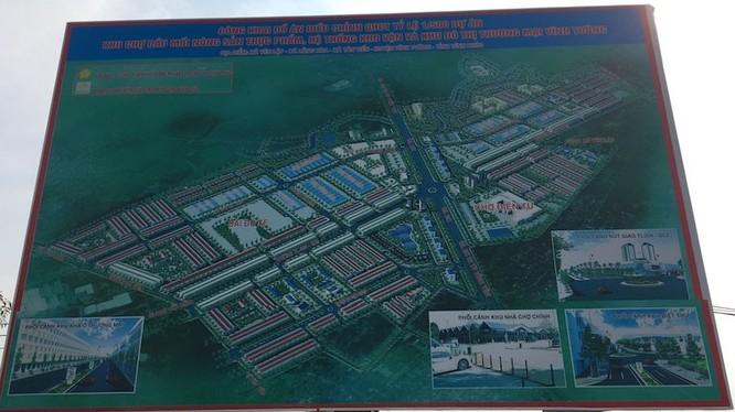 Dự án Khu chợ đầu mối nông sản thực phẩm, hệ thống kho vận và khu đô thị Thương mại Vĩnh Tường có quy mô diện tích lập quy hoạch hơn 186ha, nằm trên địa phận 3 xã: Tân Tiến, Lũng Hòa và Yên Lập. Ảnh: Vietnamnet