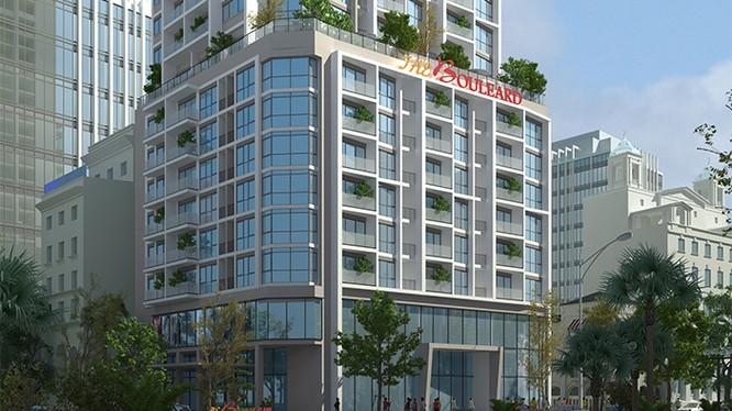 Phối cảnh dự án cải tạo chung cư 22 Liễu Giai, Hà Nội. (Tên thương mại: Tòa nhà Chung cư và Thương mại The Boulevard)
