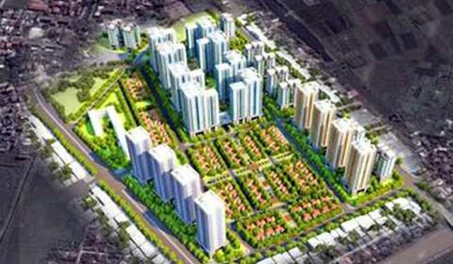 Khu đô thị Vibex được quy hoạch với tổng diện tích gần 50ha, tại quận Bắc Từ Liêm, Hà Nội.