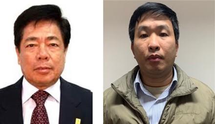 Bị can Trương Văn Tuyến; bị can Phạm Thanh Sơn/ Ảnh: mps.gov.vn