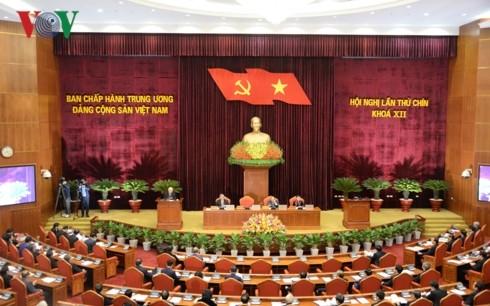Hội nghị lần thứ 9 Ban Chấp hành Trung ương Đảng khóa XII. (Ảnh: VOV)