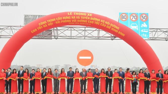 Thông xe tuyến đường nối cao tốc Hà Nội - Hải Phòng với Cầu Giẽ - Ninh Bình có tổng chiều dài 48km.