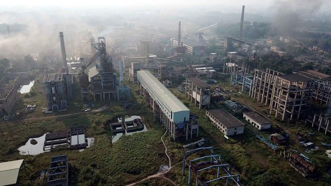 Toàn cảnh dự án mở rộng sản xuất giai đoạn 2 Công ty Gang thép Thái Nguyên/ Ảnh: Nam Trần