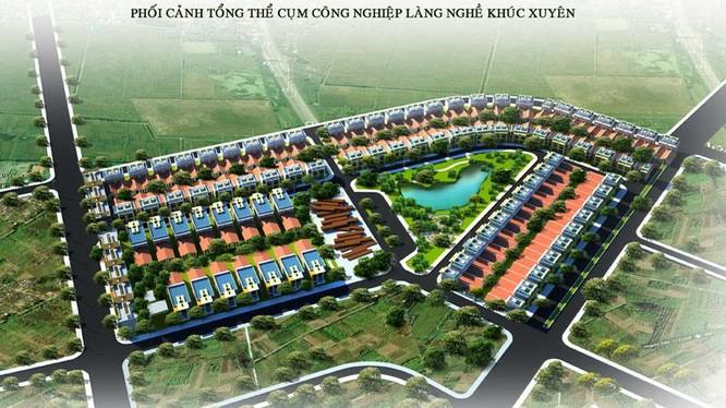 Phối cảnh cụm công nghiệp làng nghề Khúc Xuyên/ Ảnh: dabaco.com.vn