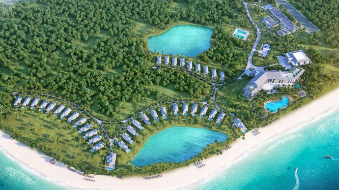 Phối cảnh quần thể du lịch, nghỉ dưỡng, sinh thái và vui trơi giải trí FLC Nghệ An/ Ảnh: flc.vn