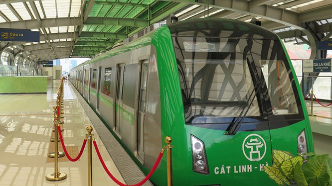 Tuyến đường sắt trên cao Cát Linh - Hà Đông có chiều dài khoảng 13km.