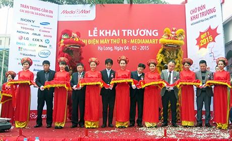 Sáng 4-2, Siêu thị điện máy MediaMart đã chính thức khai trương tại số 849 Nguyễn Văn Cừ, TP Hạ Long/ Ảnh: baoquangninh.com.vn