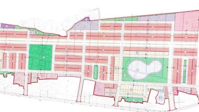Bản đồ quy hoạch Dự án Khu dân cư mới phía Tây thị trấn Nam Sách.