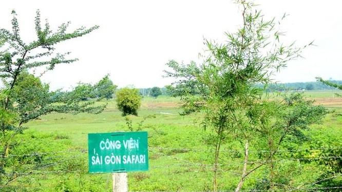 """Công viên Sài Gòn Safari """"treo"""" 15 năm. Ảnh: TP HCM"""