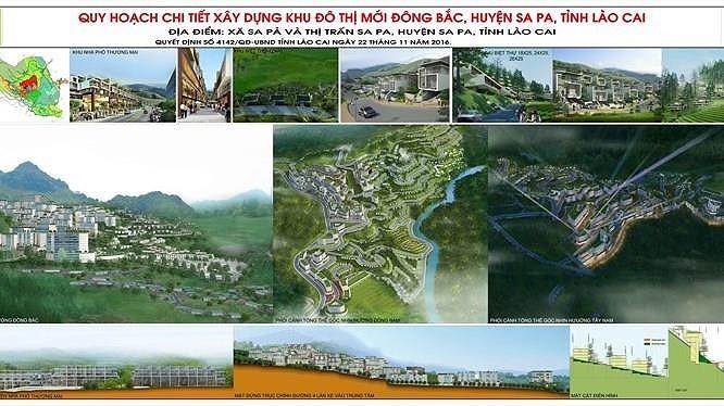 Khu đô thị mới Đông Bắc Sa Pa có quy mô 160ha, tổng mức đầu tư là 9.000 tỷ đồng.