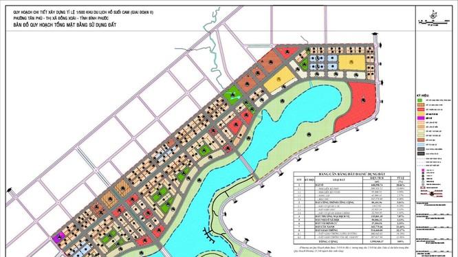 Dự án Khu du lịch hồ Suối Cam (giai đoạn II) sẽ có quy mô khoảng 160ha.