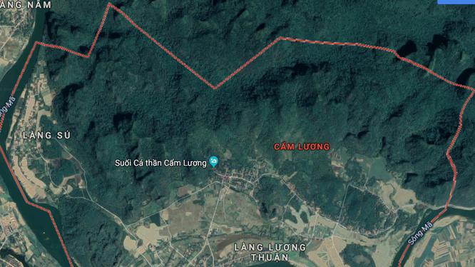 Khu vực nghiên cứu quy hoạch tại xã Cẩm Lương, huyện Cẩm Thủy, tỉnh Thanh Hóa