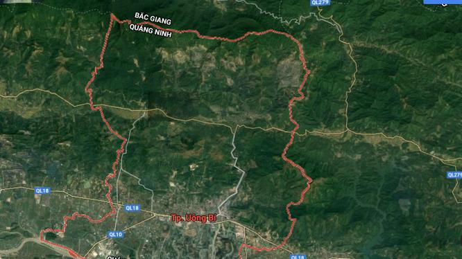 Khu đô thị phường Bắc Sơn được nghiên cứu quy hoạch tại TP Uông Bí, tỉnh Quảng Ninh.