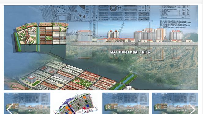Bản vẽ dự án đầu tư xây dựng - kinh doanh hạ tầng khu đô thị mới Cao Xanh - Hà Khánh B/ Nguồn: hcc1.com.vn