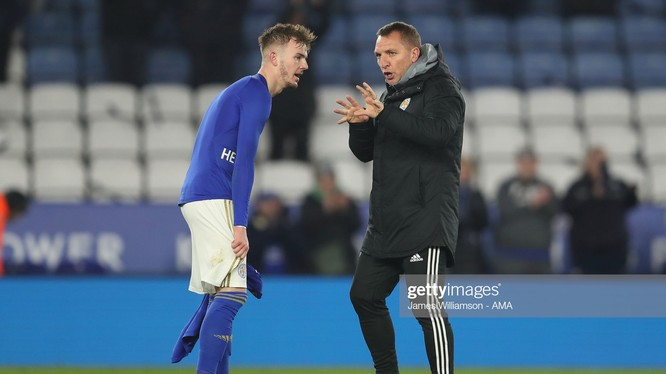 Brendan Rodgers đang có quãng thời gian tuyệt vời cùng với Leicester City (Ảnh: Getty)