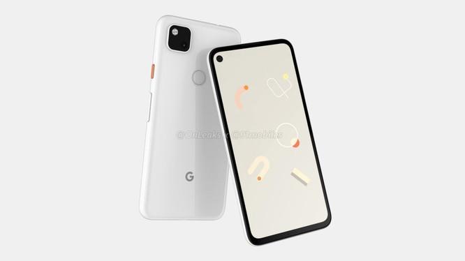 Hình ảnh render của chiếc Google Pixel 4a (Ảnh: 9mobiles)