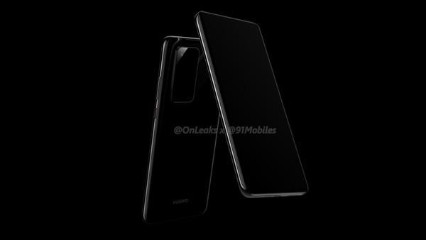 Hình ảnh render mới nhất của chiếc Huawei P40 (Ảnh: 91Mobiles)