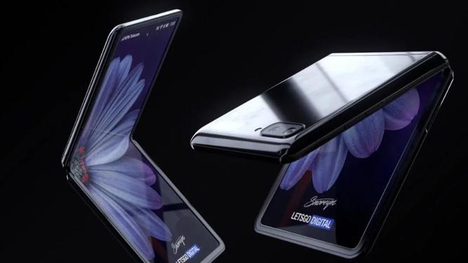 Hình ảnh render của chiếc Samsung Galaxy Z Flip (Ảnh: Gizmochina)