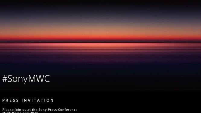 Thông báo của Sony về sự kiện ra của hãng tại triển lãm MWC 2020 (Ảnh: Phone Arena)
