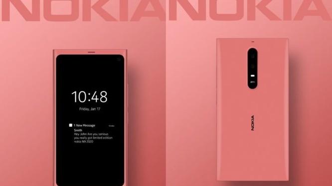 Hình ảnh render của chiếc Nokia N9 2020 (Ảnh: Gizchina)