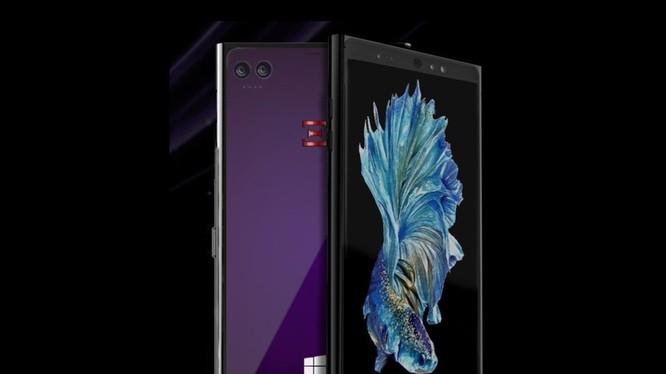 Hình ảnh render chiếc điện thoại sử dụng Windows 10 của hãng Emperion (Ảnh: Windowscentral)