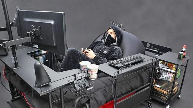 Chiếc giường mơ ước của các game thủ (Ảnh: Bauhutte)