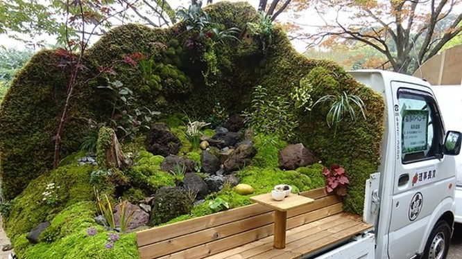 Cuộc thi làm vườn trên xe tải tại Nhật Bản (Ảnh: OC)