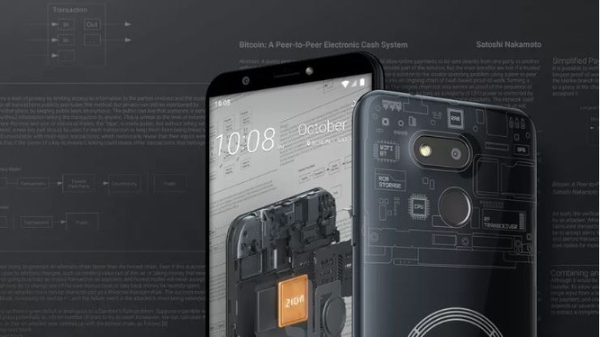 Chiếc smartphone blockchain Exodus của HTC (Ảnh; The Verge)