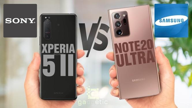 Sony Xperia 5 Mark 2 vs Samsung Galaxy Note 20 Ultra (Ảnh: Gadgetic)